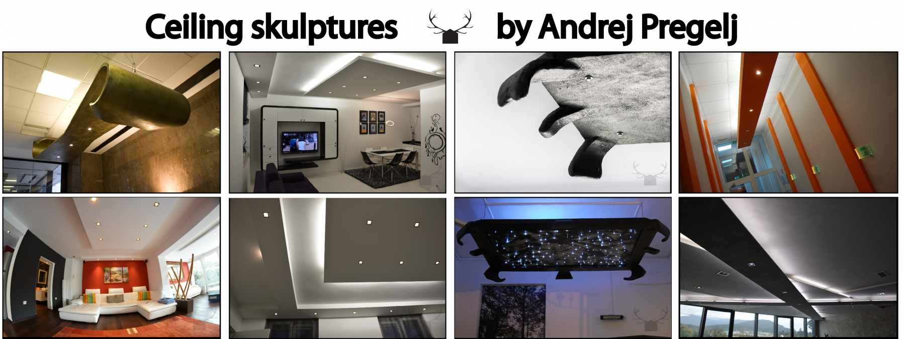 CEILING SCULPTURES by Andrej Pregelj